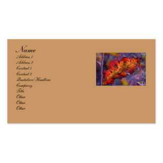 Orange Autumn Leaf Business Card