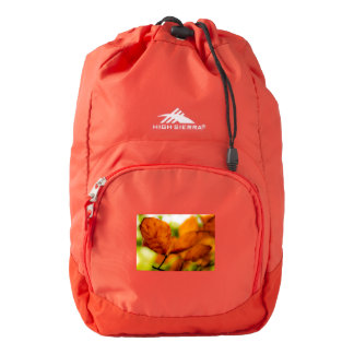 Orange autumn leaves backpack