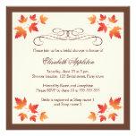 Orange autumn leaves elegant fall bridal shower