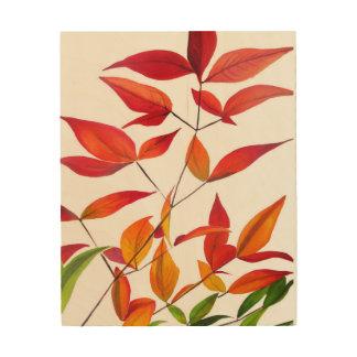 Orange Autumn leaves original watercolour art