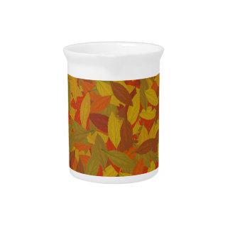Orange autumn pitcher