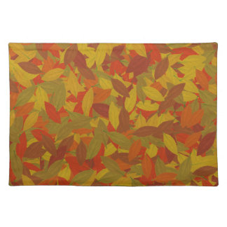 Orange autumn placemat