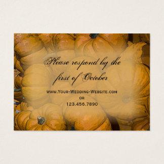 Orange Autumn Pumpkins Wedding RSVP Response Card
