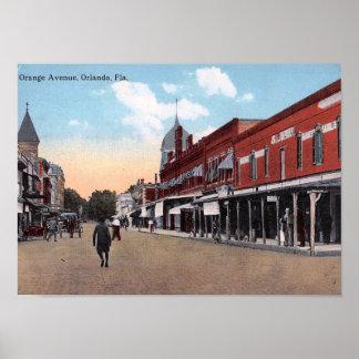 Orange Ave., Orlando, Florida 1914 Vintage Poster