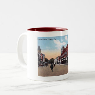 Orange Ave., Orlando, Florida 1914 Vintage Two-Tone Coffee Mug