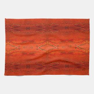 Orange Aztec Pattern2.0 Tea Towel