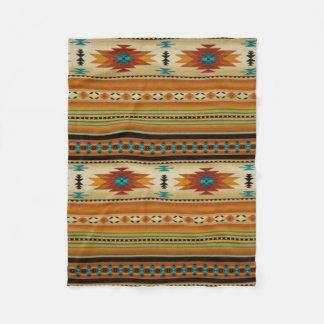 ORANGE Aztec Print Fleece Blanket