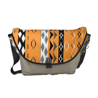 Orange Aztec Tribal Stylish Pattern Messenger Bag