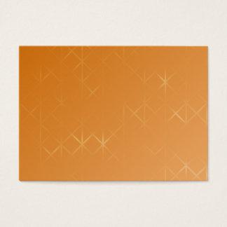 Orange Background. Abstract Misty Grid Design. Business Card
