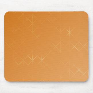 Orange Background. Abstract Misty Grid Design. Mousepad