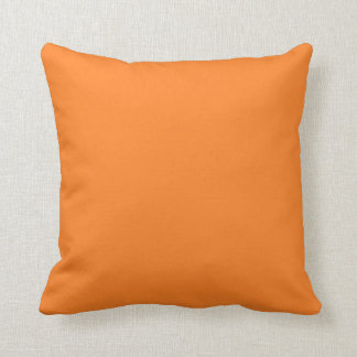 Orange Background on a Pillow Throw Cushions