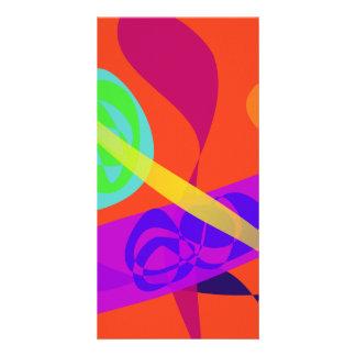 Orange Background Simple Digital Art Photo Card