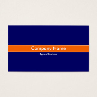 Orange Band - Dark Blue Business Card
