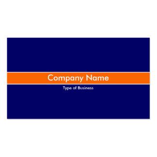 Orange Band - Dark Blue Pack Of Standard Business Cards