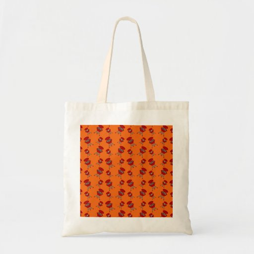 Orange barbeque pattern canvas bags