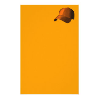 ORANGE BASEBALL HAT CAP GRAPHIC CUSTOMIZED STATIONERY
