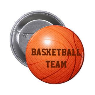 Orange basketball 6 cm round badge