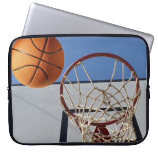 Orange Basketball About To Score Points, Laptop Sleeve