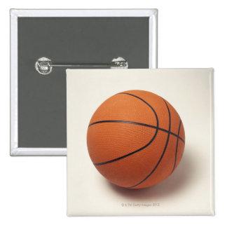 Orange basketball, close-up 15 cm square badge