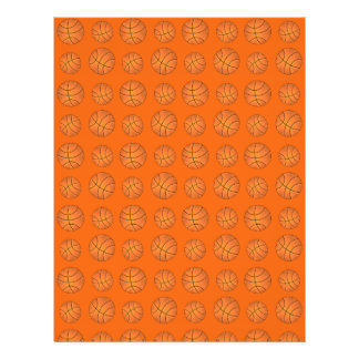 Orange basketball pattern flyers