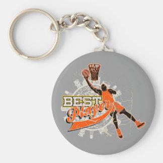 Orange Basketball Tshirts and Gifts Basic Round Button Key Ring