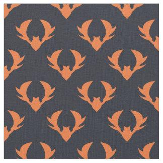 Orange bats pattern - animal pattern fabric