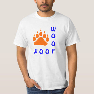 Orange Bear Paw Double Woof Gay Bear Tees