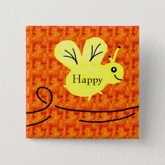 orange bee happy button