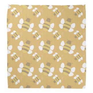 Orange Bee Seamless Pattern Bandana