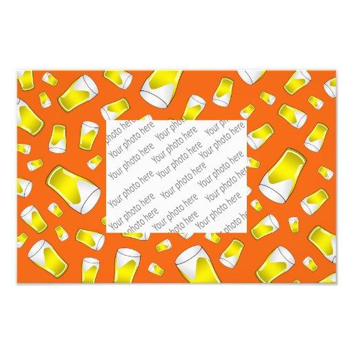Orange beer pattern photo print