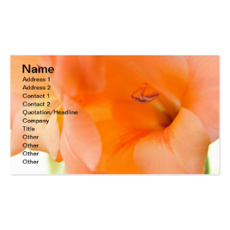Orange Bell Flowers close-up photography digital Business Cards
