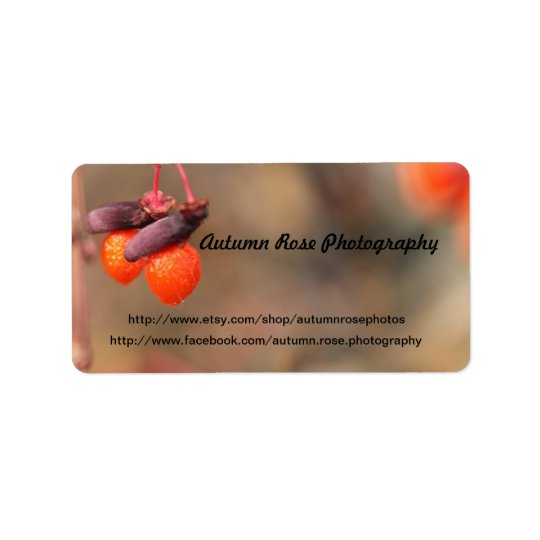 orange berries label