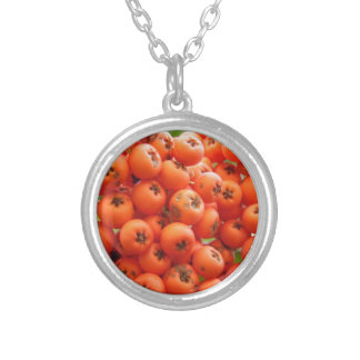 Orange Berries Silver Plated Necklace
