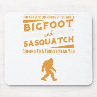 Orange Bigfoot And Sasquatch Hide Seek Champions Mouse Pad