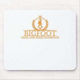 Orange Bigfoot Hide And Seek Champion Mousepad