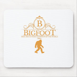 Orange Bigfoot Hide Go Seek Champion Of The World Mousepad