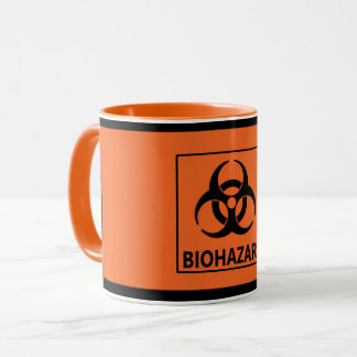 Orange 'Biohazard' Mug