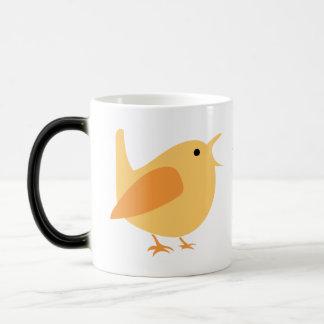 Orange Bird Morphing Coffee Mug