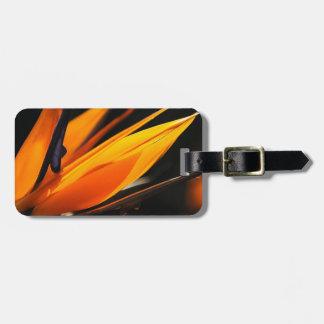 Orange Bird of Paradise Strelitzia Luggage Tag