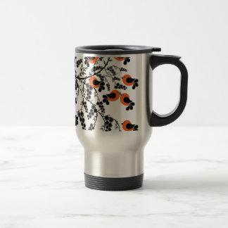 orange birds travel mug