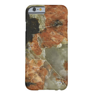 Orange, Black and Clear Quartz Barely There iPhone 6 Case