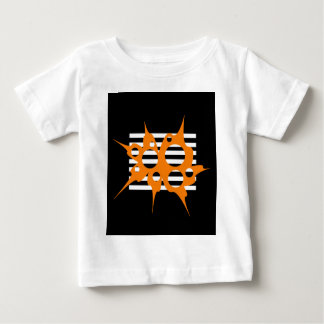 Orange, black and white abstraction baby T-Shirt