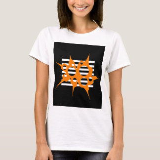 Orange, black and white abstraction T-Shirt
