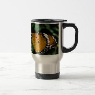 Orange, Black and White Butterfly on Leaf Mug