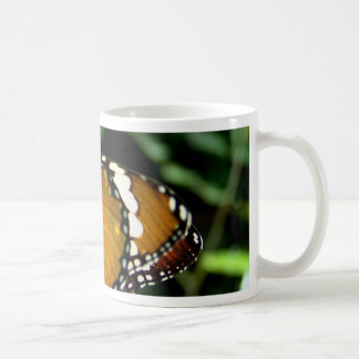 Orange, Black and White Butterfly on Leaf Mugs
