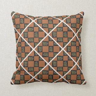 Orange Black And White pillow Throw Cushions