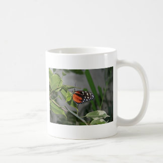 Orange Black and White Spotted Butterfly. Coffee Mugs