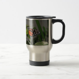 Orange Black and White Spotted Butterfly. Coffee Mug