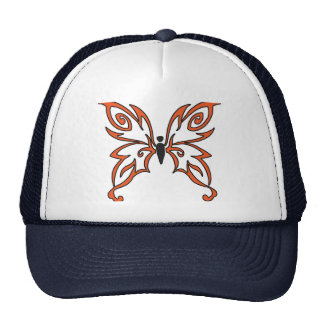 Orange Black Butterfly Trucker Hat