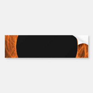 Orange & Black Fractal Background Bumper Sticker Car Bumper Sticker